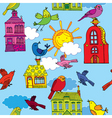 town building pattern vector image vector image
