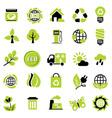 set eco signs vector image vector image