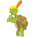 Funny Turtle Baseball Player vector image vector image