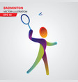 badminton color sport icon design template vector image