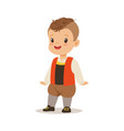 boy wearing national costume of france colorful vector image