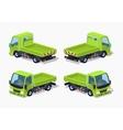 Empty green truck vector image