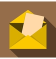 Envelope icon flat style vector image