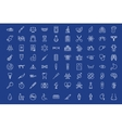 Medical outline icons set vector image