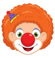 of a clown vector image