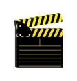 open clapperboard icon image vector image