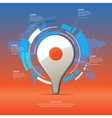 Realistic 3D icon map pointer vector image