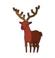 reindeer christmas animal vector image