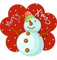 Snow Man vector image