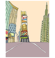 Time Square Drawing vector image