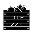vegetables harvest box icon vector image