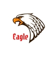 Eagle or hawk head mascot with screaming bird vector image vector image