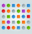 colorful website turn reload buttons design vector image