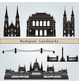 Budapest landmarks and monuments vector image