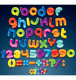 funny cartoon alphabet vector image