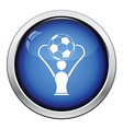 Icon of football cup vector image