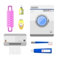 Bathroom icons symbols vector image