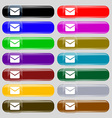 Mail Envelope Message icon sign Set from fourteen vector image