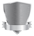 metal shield with ribbon vector image