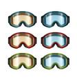 ski snowboard goggles vector image