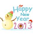 New Year Snow Man vector image