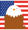 cute big fat eagle vector image