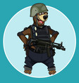cartoon bear standing with arms akimbo vector image