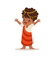 girl wearing national costume of africa colorful vector image