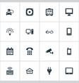 set of simple smart icons vector image