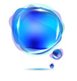 Abstract Blue Speech Bubble vector image vector image