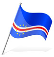 flag of Cape Verde vector image vector image
