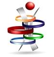 3d symbol creative design vector image