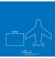 airport icons travel icons flat long shadow vector image