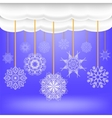 Abstract Winter Snow Background vector image