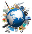 Shipment Planet vector image vector image