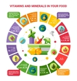 healthy eating infographics with vector image