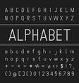 Alphabet Font Design vector image