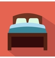 Bed flat icon vector image