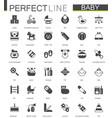 black classic web icons set baby toys feeding vector image