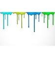 Colorful paint drip vector image