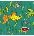 Fish in the sea Seamless texture vector image