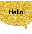 gold speech bubble vector image