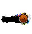 Graffiti image with basketball vector image