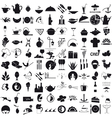 Icons for the gastronomy vector image