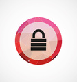 lock circle pink triangle background icon vector image