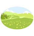 Meadow in a mountain valley vector image vector image