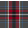 Gray red check plaid texture seamless pattern vector image