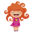 kawaii cheerful red-curly baby-grl vector image vector image