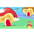 Mushroom houses vector image vector image