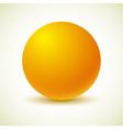 Yellow ball vector image